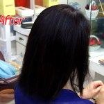 縮毛矯正施術後