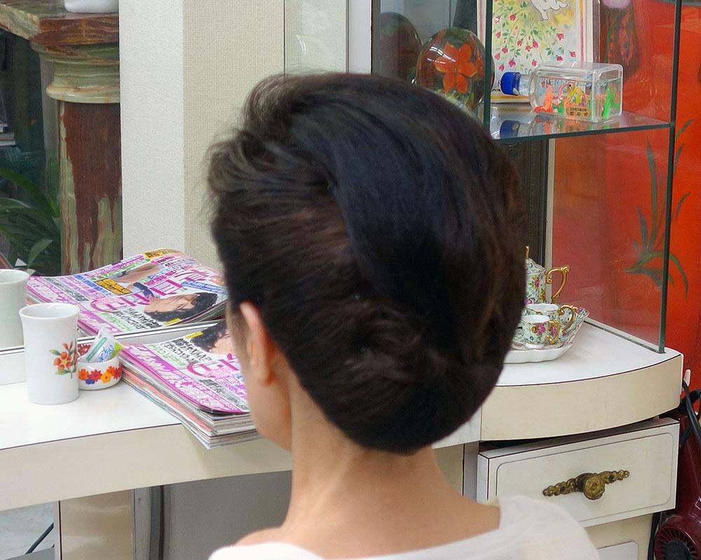 ワンロール風和装髪