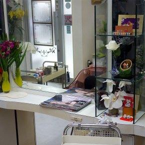 美容室の切り花