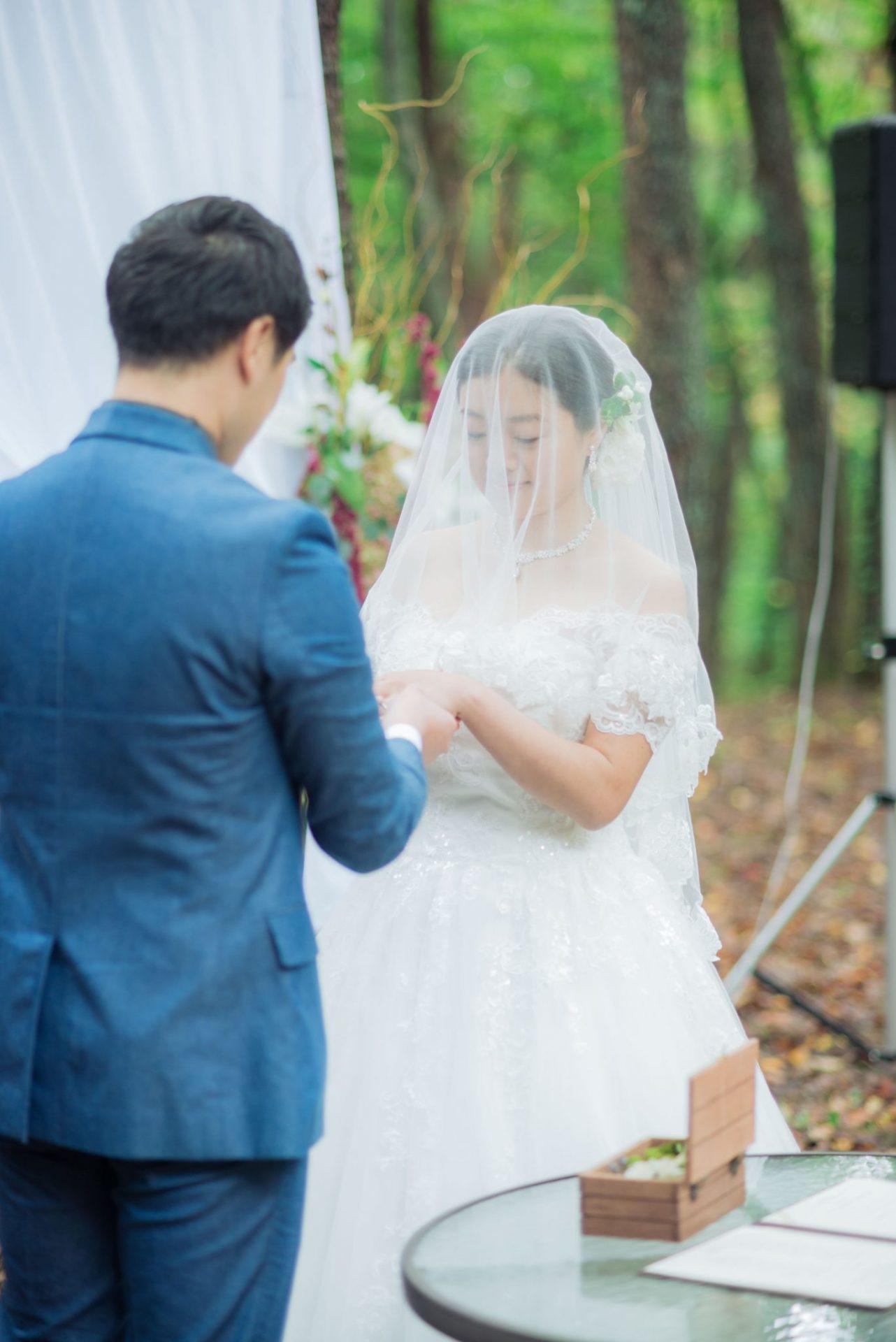 べるが(verga)での結婚式-指輪交換