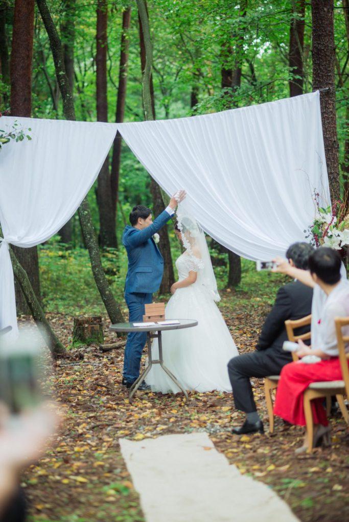 べるが(verga)での結婚式-ベールアップ