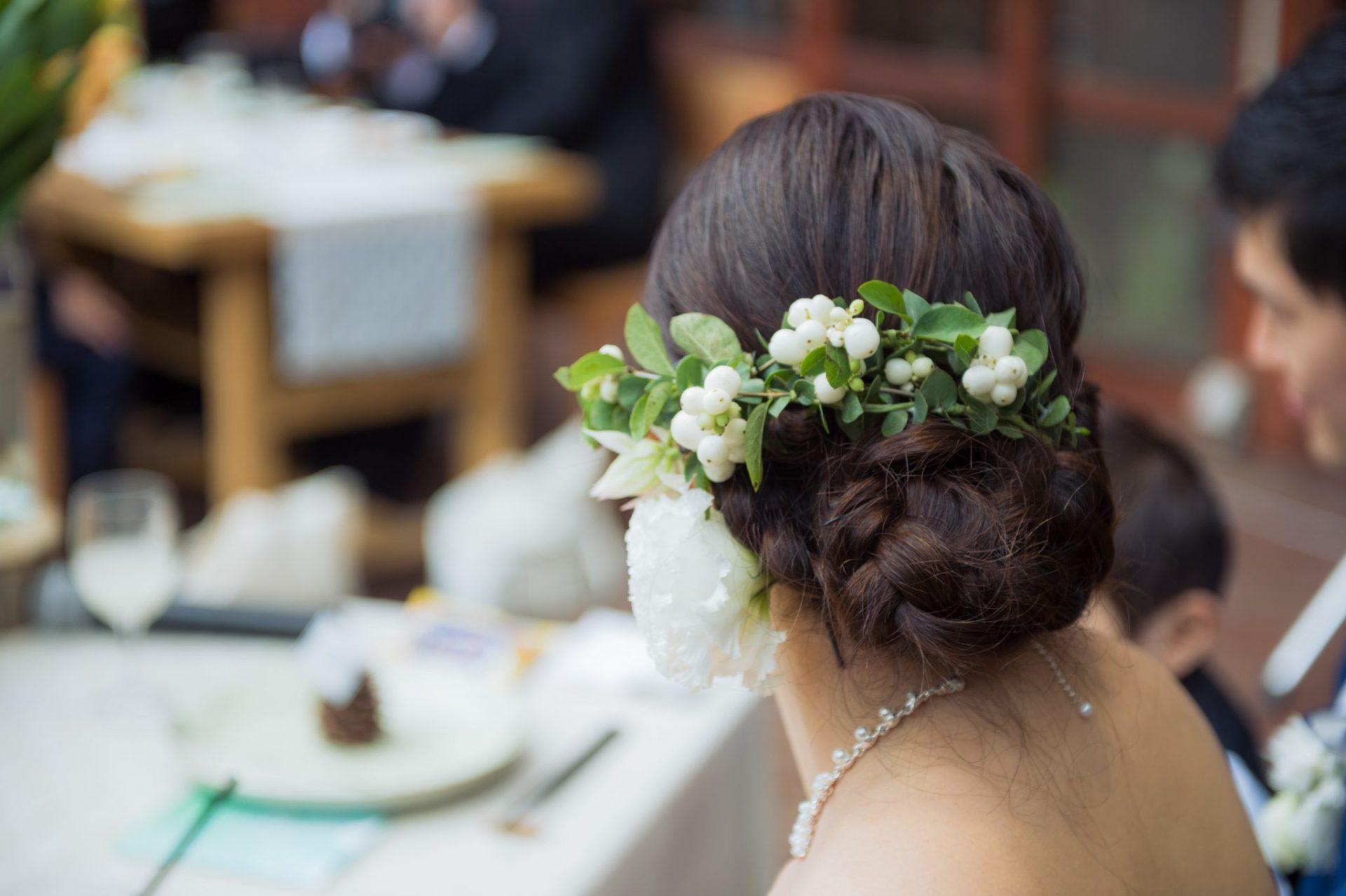 べるが(verga)での結婚式-ヘッドパーツ