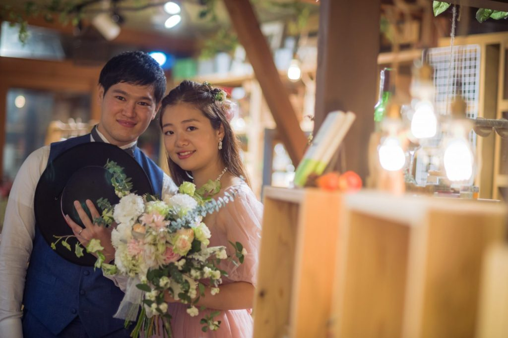 べるが(verga)での結婚式-二人の表情