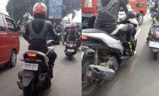 spy shot yamaha nvx 155
