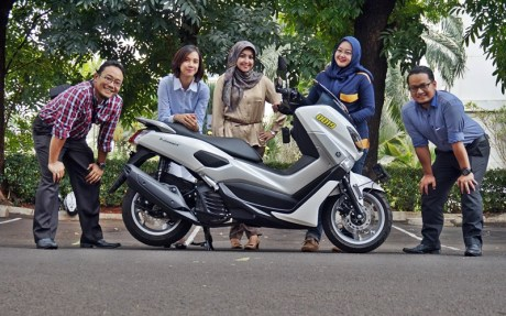 test ride yamaha nmax non abs