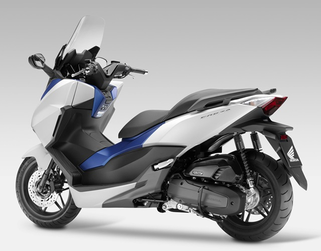 Honda forza white blue kobayogas