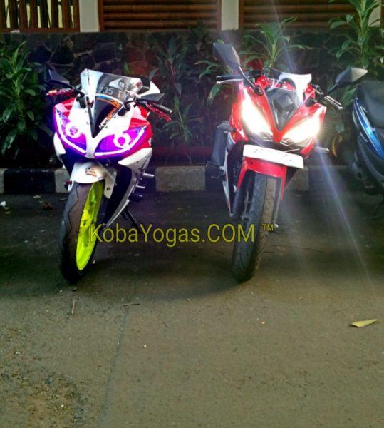 All New CBR150R K45G vs Yamaha R15
