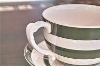 英国 T.G.GREEN 緑色のラインが愛らしい大きなカップ&ソーサー 6