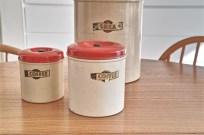 英国 キッチン用品の名品 garrison社のキャニスター3種 3