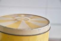 Regency Ware リージェンシー 英国 ウェアー社製 フラーワー缶 サーカステント柄イエロー 4