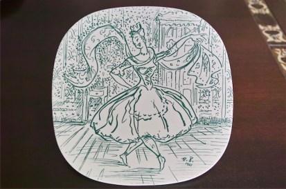 NYMOLLE 1961 イヤープレート 華やかに踊る女性