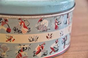 英国 ウースターウェアー(Worcester Ware)の名品! 茶摘み柄のケーキ缶  2
