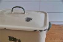 英国製 ブレッド缶 クリーム地×緑文字  その2 3