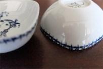 1950年代 ビョルン・ヴィンブラッド(Bjorn Wiinblad 1918-2006 )デザイン 可愛い四角のぽってりしたフォルムのマメ皿 楽器シリーズ ラッパ 女性