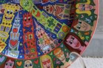 James Rizzi (ジェームス・リジィ) タイトル名:City People ドイツ ローゼンタール スタジオライン製 飾り用プレート シリアルNo.00568/1,500