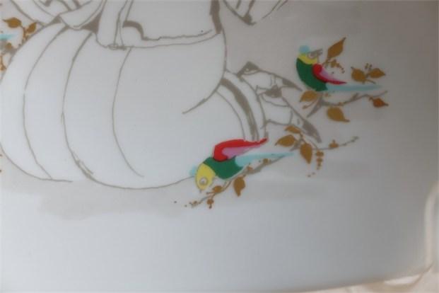 ドイツ ローゼンタール(Rosenthal) Studio-line製 飾りプレート 女性と鳥 ビョルン・ヴィンブラッド/Bjorn Wiinblad デザイン