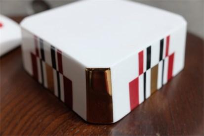 資生堂 SHISEIDO ノベルティ  椿会 1997年度 フェイスパウダー用 陶器製小物入れ 5