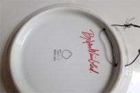 Bjørn (Bjorn) Wiinblad (ビョルン・ヴィンブラッドさん) 飾り皿 31㌢  デンマーク ニモール窯 Nymølle 3057-164 7