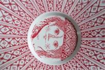 Bjørn (Bjorn) Wiinblad (ビョルン・ヴィンブラッドさん) 飾り皿 31㌢  デンマーク ニモール窯 Nymølle 3057-164 3