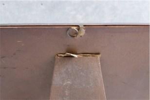 デンマーク製 アンティークフレーム 手吹きガラス製で凸型に湾曲しています A 4