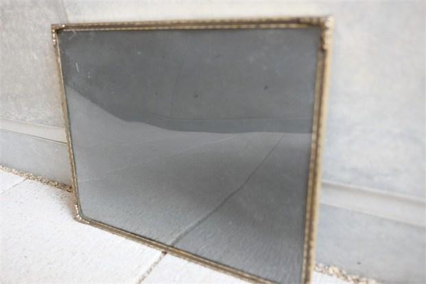 デンマーク製 アンティークフレーム 吹きガラス製で凸型に湾曲しています B 6
