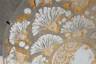 独1976年 ROSENTHAL(ローゼンタール社)製 ビョルン・ヴィンブラッドデザインのガラス飾り皿 3000枚限定 1