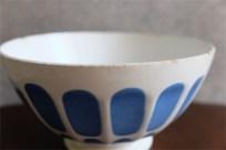 アンティークカフェオレボウル その42 フランス Gein(ジアン)社製 スカイブルー色