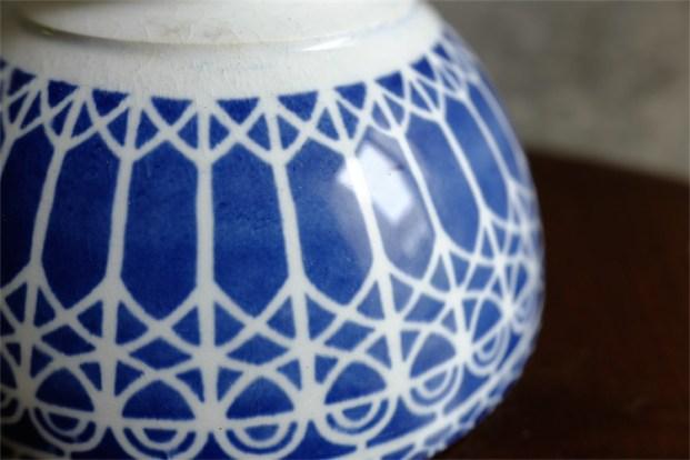 カフェオレボウル その38 ボルーで繊細なモロッコ柄 40の印あり モロッコ製