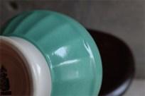 アンティークカフェオレボウル その57 フランス DIGOIN(ディゴアン)社製 エメラルドグリーン単色