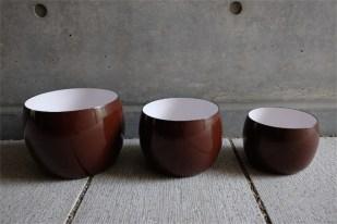 DANSK (ダンスク)エナメル琺瑯 キッチンボウル 入れ子式3つ ブラウンカラー