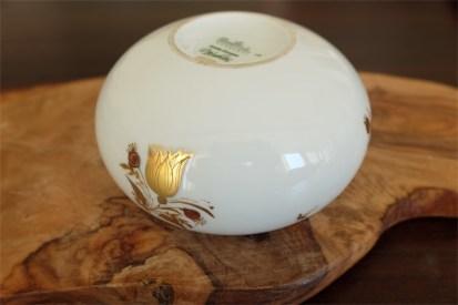 ドイツ ローゼンタール ビョルンビンブラッドデザイン ゴールドをあしらった小物入れ 蓋なし