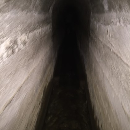 …in a pitch black tunnel, to reemerge…