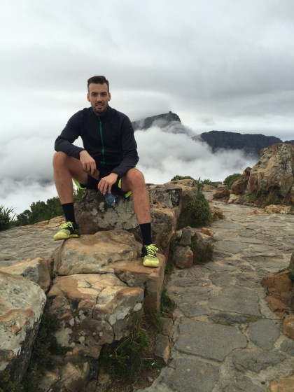 Table Mountain in the clouds.