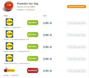 Porównanie cen w sklepach
