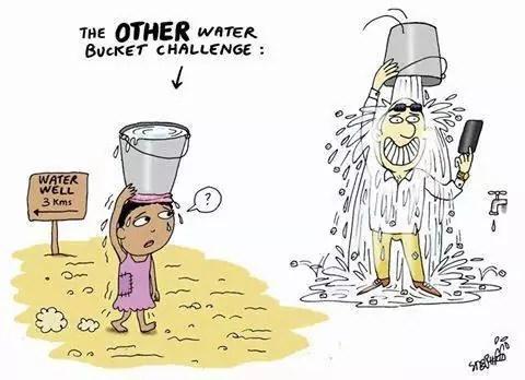 Nieco inny rodzaj wyzwania związany z wiadrem wody