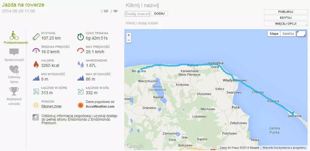 Rekord - 107 km na rowerze w ciągu jednego dnia