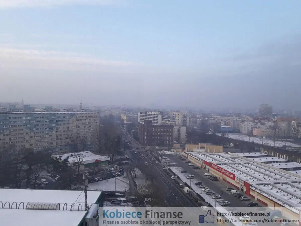 Smog we Wrocławiu panorama Wrocławia