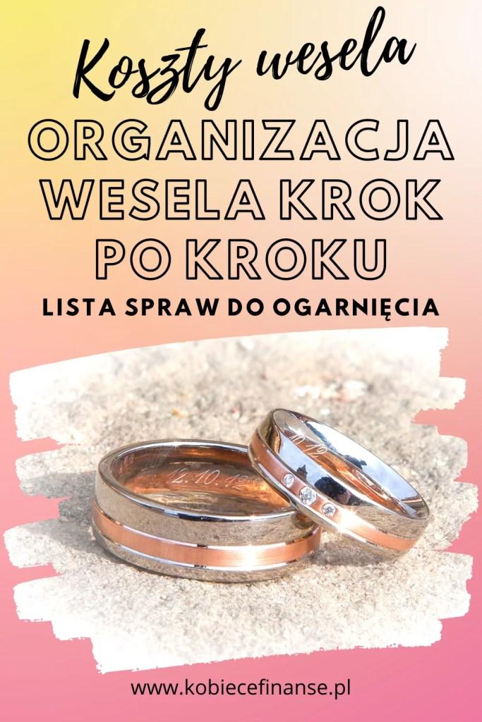 Organizacja wesela krok po kroku. Lista spraw do ogarnięcia. Koszty ślubu i wesela, planowanie.