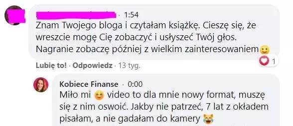 Live'y Kobiece Finanse na Facebooku