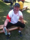 Jacek z medalem