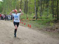 Finisz Izy, która wygrała bieg w kategorii Kobiet