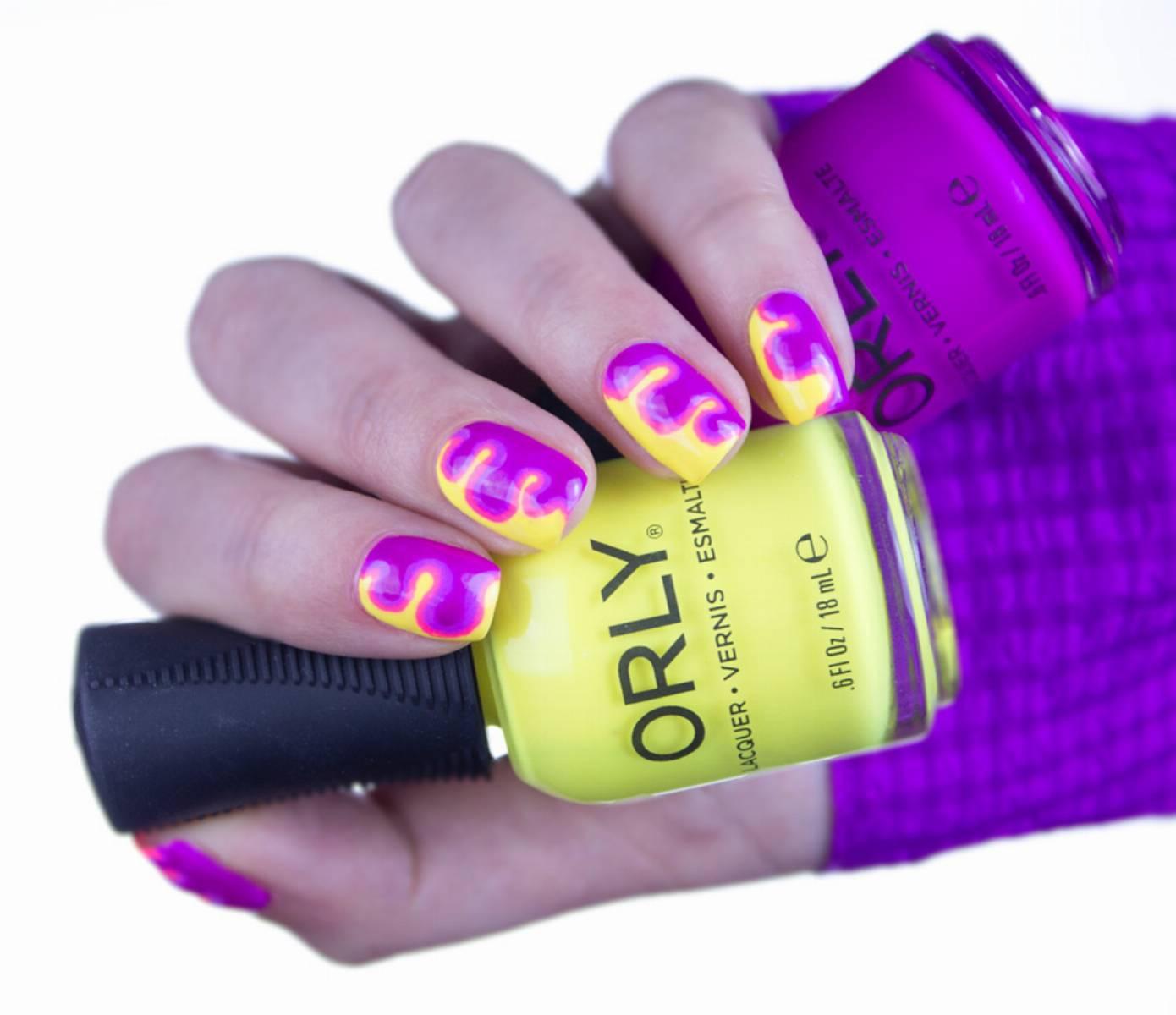 Modny Manicure Na Lato Neonowe Zdobienia Krok Po Kroku