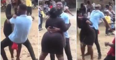 K)n) Starved Guy Pound N Ride A Lady The Baad Way @ A Funeral - Video