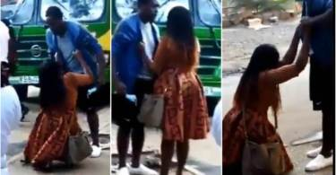Lady Cry N Begs boyfriend Not To Leave Her - Watch Video N Be Sad