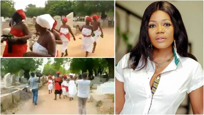Nae-We Priestesses Storm Cemetery to Invoke curses on singer Mzbel - Video