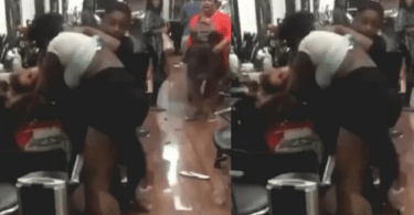 Wife N Side-Chic Fights Fist To Fist To Death In A Saloon Over Owner Of A Guy - Video