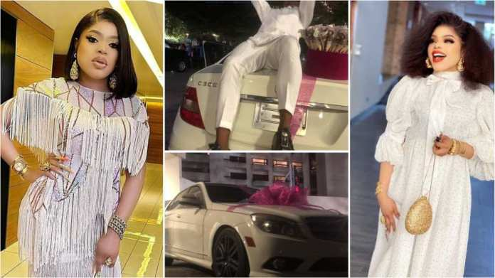 Bobrisky Dash Out New Mercedes Benz 2 Die-Hard Fan For Keeping erase Tattoo Of Him - Video
