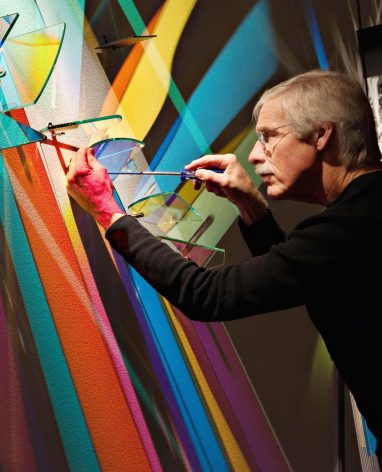 prismatic paintings from lighting by Stephen Knapp_kobi lighting studio 08