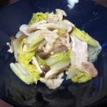 白菜・豚肉・しめじの重ね蒸し煮
