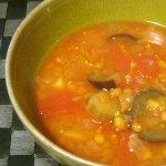 レンティルピースと野菜のスープ